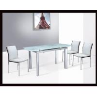 B C 18 The Latest Extendable Dinner Table Tempered Glass