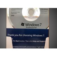 Buy cheap 32 Bit / 64 Bit Windows 7 Professional Retail Box CD 100% Activation from wholesalers