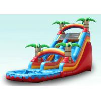 Buy cheap Red Tropical Kids Garden Water Slide With Pool , Blow Up Water Slide Backyard Inflatable Water Slide from wholesalers