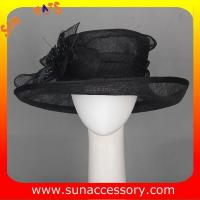 Buy cheap New design elegant sinamay Church hats for girls ,trendy Sinamay wide brim church hat from Sun Accessory from wholesalers