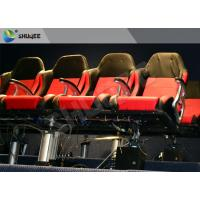 Buy cheap Movie Equipment Pneumatic 7D Cinema System Standard Red Chair With Leg Sweep product
