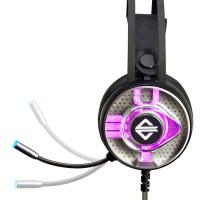 China AJAZZ AX360 3.5mm Stereo Gaming Headset On Ear Headphones with Microphone Noise Canceling Colorful LED Lights Volume Con on sale