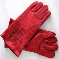 "Buy cheap 14"" 16"" Red Leather  safety Welding Gloves  for welders from wholesalers"