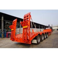 Buy cheap TITAN VEHICLE 4 axles lowbed trailer with 60 ton lowboy trailer for sale from wholesalers