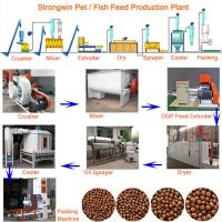 Buy cheap Pet 200KG/H Fish Feed Production Process With Mesh Belt Dryer Adjustable from wholesalers