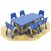 Buy cheap Classroom Blue Children Table And Chairs Rectangular Durable from wholesalers