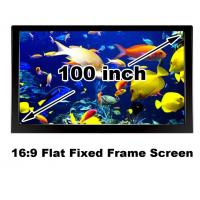 Buy cheap Matt White Projection Screen 100 Inch Fixed Frame 16:9 HD Projector Fabirc High Quality from wholesalers