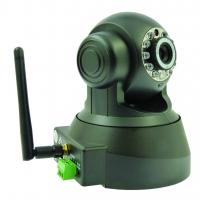 Buy cheap DDNS H.264 CMOS Wireless 25fps Pan and Tilt IP Camera 1/4inch 0.3 Megapixel from wholesalers