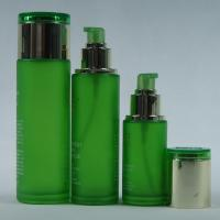 Buy cheap Green Glass Lotion Bottles Pump Glass Cosmetic Cream Jars 1-100ML from wholesalers
