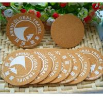 Buy cheap Square waterproofing mdf cork coaster custom logo printing wooden coaster from wholesalers
