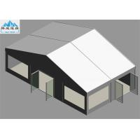 Buy cheap Heavy Duty 6 x 10M White PVC Marquee Tent With Glass Fire Door Fireproof OEM from wholesalers