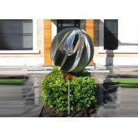 Attractive Stainless Steel Sphere Sculpture / Contemporary Steel Sculpture