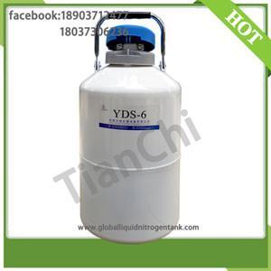 Quality wholesale TianChi 6L aluminum cryogenic liquid nitrogen tank price in RO for sale