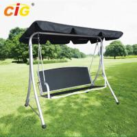 Buy cheap 3 Seat Metal Frame Outdoor Patio Swing With Canopy , Stand Alone Garden Swing Seat product