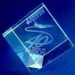 Buy cheap K9 cut corner 3D Laser Engraving crystal block from wholesalers