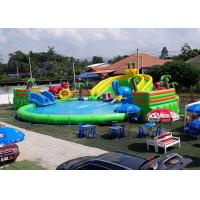 Buy cheap Inflatable Giant Mobile Water Park Site , Funny And Commercial Swimming Pool Park Equipment from wholesalers