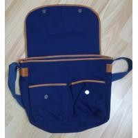 Buy cheap Blue Canvas PU Bag Cover Opening And Two Small Bags Inside OEM / ODM from wholesalers
