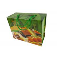 Buy cheap Food Packing Paper Box Green CMYK Color Printing Two  Layers Paper Material Rigid Box with Green Color Rope Handle from wholesalers