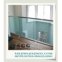 Buy cheap Best supply clear toughened glass balustrade from wholesalers