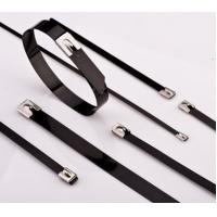 Buy cheap Plastic sprayed stainless steel cable ties from wholesalers