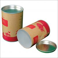 Buy cheap Paper  Composite Cans with Flat Metal Lid For Jeans , T - shirt , custom paper tubes from wholesalers