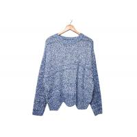 Buy cheap Round Neck Womens Knit Sweater Pleuche Irregular Knitted OEM / ODM Service from wholesalers
