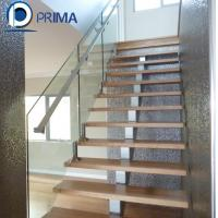 Buy cheap Fashionable low cost exterior single beam straight stair with railing from wholesalers