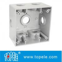 Buy cheap Powder Coated 3 Holes Two Gang Weatherproof Electrical Boxes from wholesalers