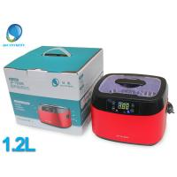 Buy cheap JP -1200B 1.2L digital ultrasonic jewelry cleaner red cover FCC CE from wholesalers