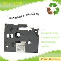 Buy cheap laminated TZ tape 12mm tze231 label tape compatible brother p touch from wholesalers