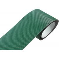 China Indoor Transport Pvc Pu Conveyor Belt Green With Steel Clipper Joint on sale