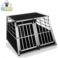 China XXL Dog Cage Transport Partition Box Crate Dog Carrier 2 Door Puppy Training ZX104A2 on sale