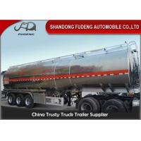 45 cbm FUWA axle petrol fuel tanker semi trailer aluminium alloy sale