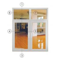 Buy cheap Large White Casement Windows Replacement / Aluminium Double Glazed Windows from wholesalers