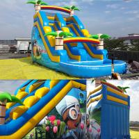 Buy cheap Summer Inflatable Slides Inflatabe Water Slides With Pool from wholesalers