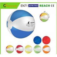 Logo Printing Blow Up Beach Balls Customised Color 0.16mm 0.18mm Thickness