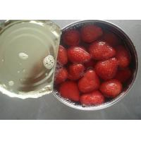 Buy cheap Seedless Canned Strawberry Organic Canned Fruit in Light Syrup 14-17% from wholesalers