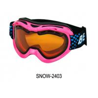 Buy cheap Cute Girls Pink Ski Goggles Photochromic with PC Lens , CE FDA Certificated from wholesalers