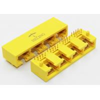 China 1 x 4 Ports Harmonica Ganged Lan Connector Rj45 For Network Hub / Switches on sale