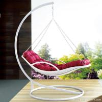 Buy cheap Premium Indoor Outdoor Furnitures PE Rattan White Day Bed Style Swing Hanging Chair product