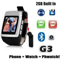 Buy cheap The Newest Build-in Bluetooth Headset Watch Mobile Phone G3 from wholesalers