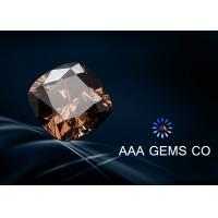 Buy cheap Light Brown Cushion Cut Moissanite Diamond 6mm For Decoration from wholesalers