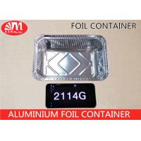 Buy cheap 2114 Aluminium Disposable Food Container , Disposable Tin Foil Trays 1000ml Volume from wholesalers