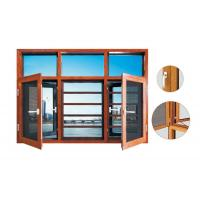 Buy cheap 135 series aluminum thermal break casement  window with mosquito net from wholesalers