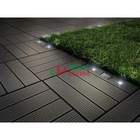 Buy cheap Diy Interlocking Composite Deck Tiles Wood Plastic Composite Solar With LED Lights from wholesalers