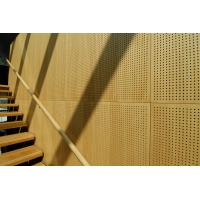 Buy cheap Auditorium Melamine Surface Perforated Wood Sheets / Music Studio Acoustic Panels from wholesalers