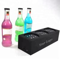 Buy cheap Custom Plexiglass Led Liquor Bottle Display 3 - Bottle Led Acrylic Wine Rack from wholesalers