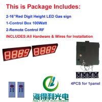 Buy cheap 16 inch 8888 double sides and one line each side with controller and remoter led gas price display sign for gas station from wholesalers