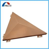 Buy cheap PVDF Coated Custom Aluminum Solid Panel Wall Cladding In Triangle Shape from wholesalers