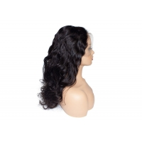 Buy cheap pre plucked 18inch body wave human hair wigs for black women from wholesalers